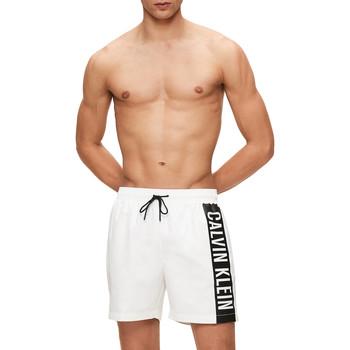 textil Herr Badbyxor och badkläder Calvin Klein Jeans KM0KM00437 Vit