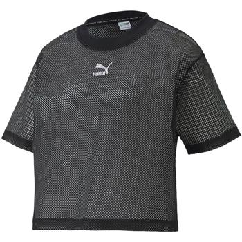 textil Dam T-shirts Puma 598616 Svart