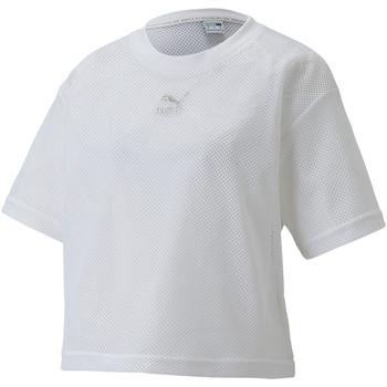 textil Dam T-shirts Puma 598616 Vit