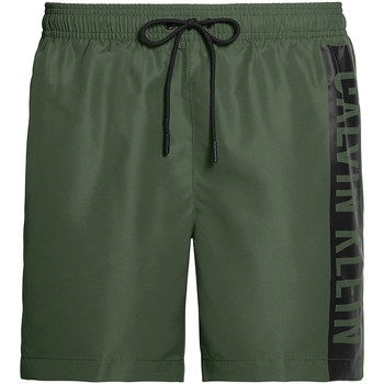 textil Herr Badbyxor och badkläder Calvin Klein Jeans KM0KM00437 Grön