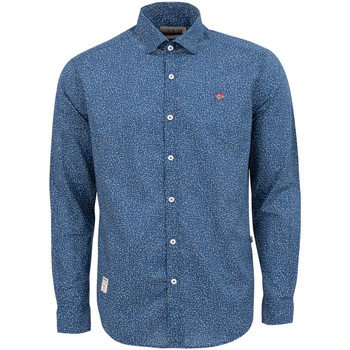 textil Herr Långärmade skjortor Napapijri NP0A4E2W Blå