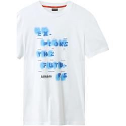 textil Herr T-shirts Napapijri NP0A4E8G Vit