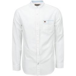 textil Herr Långärmade skjortor Napapijri NP0A4E2X Vit