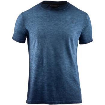textil Herr T-shirts Lumberjack CM60343 004 517 Blå