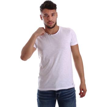 textil Herr T-shirts Key Up 233SG 0001 Vit