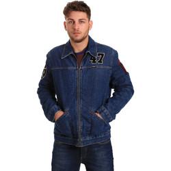 textil Herr Jeansjackor Wrangler W4580512L Blå