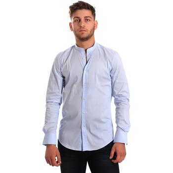 textil Herr Långärmade skjortor Antony Morato MMSL00376 FA450001 Blå