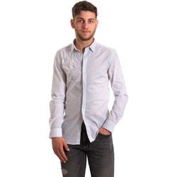 textil Herr Långärmade skjortor Antony Morato MMSL00428 FA430302 Vit