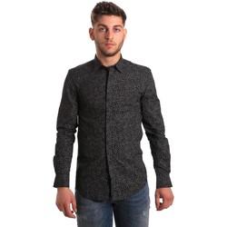 textil Herr Långärmade skjortor Antony Morato MMSL00428 FA430302 Svart