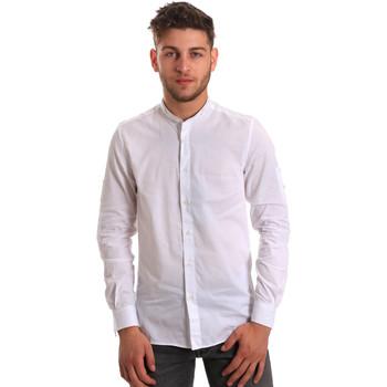 textil Herr Långärmade skjortor Antony Morato MMSL00429 FA440006 Vit