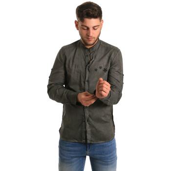 textil Herr Långärmade skjortor Antony Morato MMSL00452 FA400014 Grön