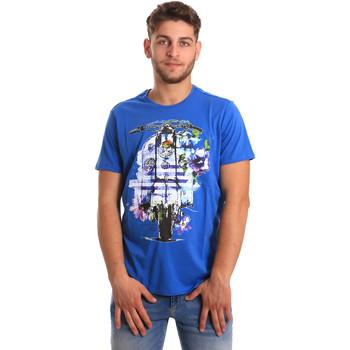 textil Herr T-shirts Gaudi 811BU64154 Blå