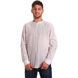 textil Herr Långärmade skjortor Gaudi 811FU45020 Vit