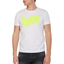 textil Herr T-shirts Gas 542973 Vit