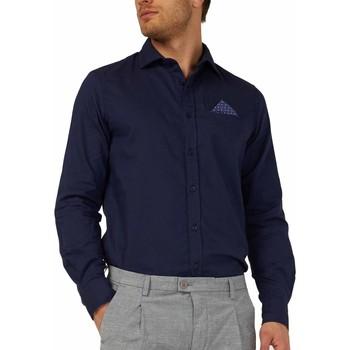 textil Herr Långärmade skjortor Gas 151131 Blå