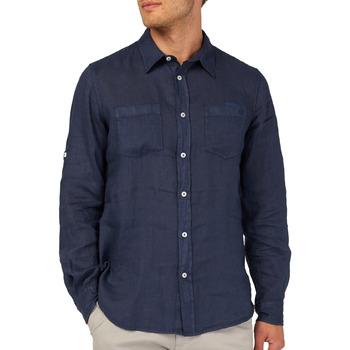 textil Herr Långärmade skjortor Gas 151150 Blå