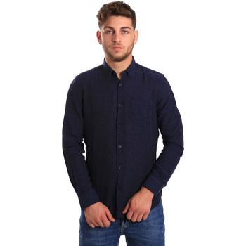 textil Herr Långärmade skjortor Gas 151200 Blå