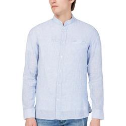 textil Herr Långärmade skjortor Gas 151228 Blå