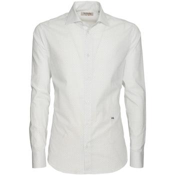 textil Herr Långärmade skjortor NeroGiardini P873051U Vit