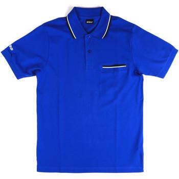 textil Herr Kortärmade pikétröjor Key Up 2Q827 0001 Blå