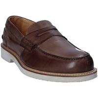 Skor Herr Loafers Exton 9102 Brun