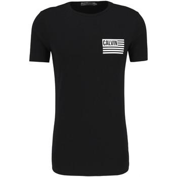 textil Herr T-shirts Calvin Klein Jeans J30J306891 Svart