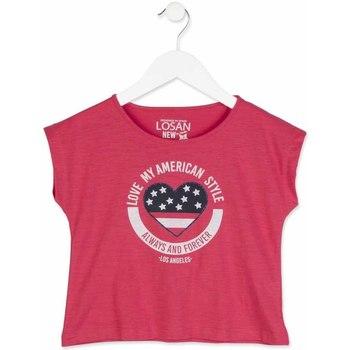 textil Flickor T-shirts Losan 814-1023AB Rosa