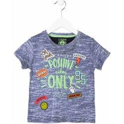 textil Barn T-shirts Losan 815-1017AC Blå