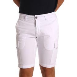 textil Herr Shorts / Bermudas Sei3sei PZV130 81408 Vit