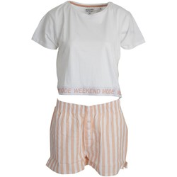 textil Dam Pyjamas/nattlinne Brave Soul  Vit/rosa