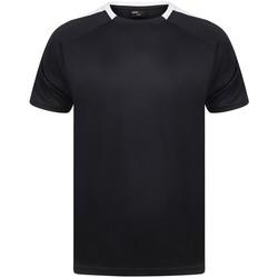 textil T-shirts Finden & Hales LV290 Marinblått/vit