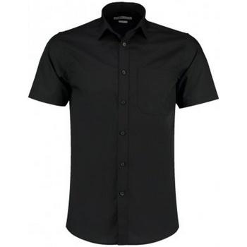 textil Herr Kortärmade skjortor Kustom Kit KK141 Svart