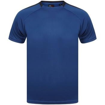 textil T-shirts Finden & Hales LV290 Kungligt blått/grönblått