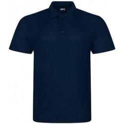 textil Herr Kortärmade pikétröjor Prortx RX105 Marinblått