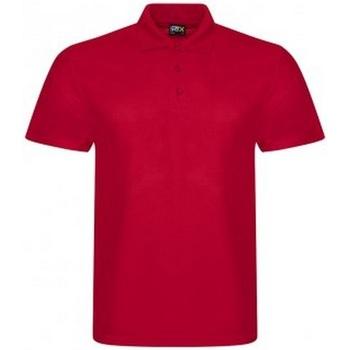 textil Herr Kortärmade pikétröjor Prortx RX105 Röd
