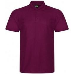 textil Herr Kortärmade pikétröjor Prortx RX105 Bourgogne