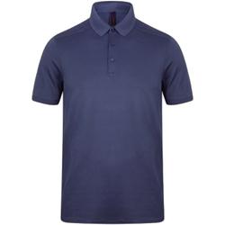 textil Herr Kortärmade pikétröjor Henbury HB460 Marinblått