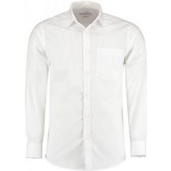 textil Herr Långärmade skjortor Kustom Kit K142 Vit