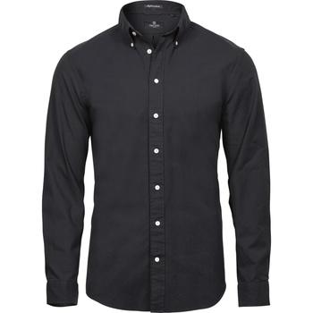 textil Herr Långärmade skjortor Tee Jays TJ4000 Svart