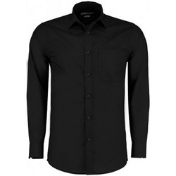 textil Herr Långärmade skjortor Kustom Kit K142 Svart