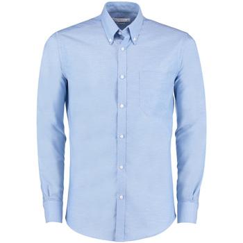 textil Herr Långärmade skjortor Kustom Kit KK182 Ljusblå