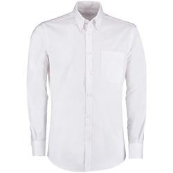 textil Herr Långärmade skjortor Kustom Kit KK182 Vit