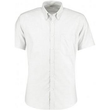 textil Herr Kortärmade skjortor Kustom Kit KK183 Vit