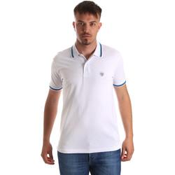 textil Herr Kortärmade pikétröjor Gaudi 911BU64033 Vit