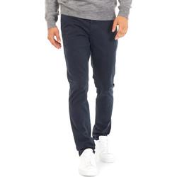 textil Herr Chinos / Carrot jeans Gas 360702 Blå