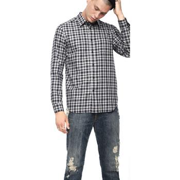 textil Herr Långärmade skjortor Diesel 00SLNG 0TATG Svart