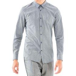 textil Herr Långärmade skjortor Antony Morato MMSL00501 FA430345 Blå