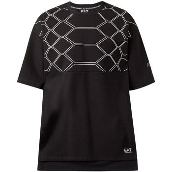 textil Herr T-shirts Ea7 Emporio Armani 6ZPT43 PJQ0Z Svart