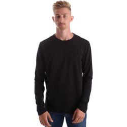 textil Herr Långärmade T-shirts Gas 300187 Svart