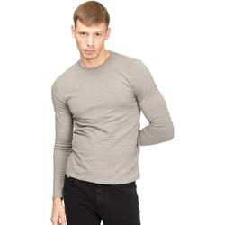 textil Herr Långärmade T-shirts Gas 300187 Grå